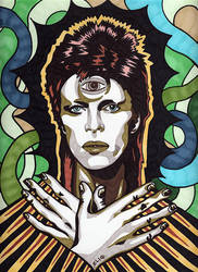 David Bowie by eliq