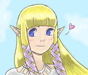 Skyward Zelda by IkouKaabii