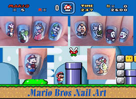 Mario Brothers Nail Art by Auffallend