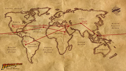 Indiana Jones and the Infernal Machine World Map by SkyMarshalVince