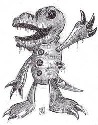 Sack Raptor by FreakshowComics