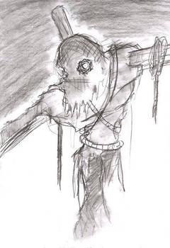 Coal Sketch- Scarecrow by FreakshowComics