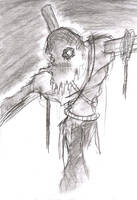 Coal Sketch- Scarecrow by FreakshowComics