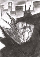 Coal Sketch- I'm BATMAN by FreakshowComics