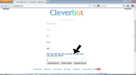 Ha! Cleverbot Made a Typo! by MariYoshBowsFan
