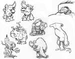 buncha monsters by SteveLeCouilliard