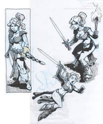 more sketches of Una by SteveLeCouilliard