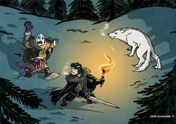 Jon Snow by SteveLeCouilliard