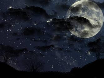 Savana night by Stefania-chan
