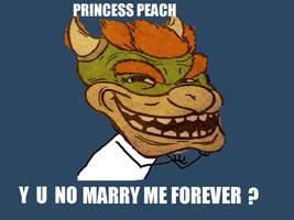PRINCESS PEACH Y U NO by Bowser14456