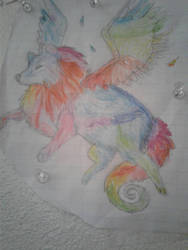 Color winged wolf by Bulefox
