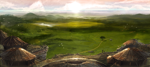 - Landscape concept I - by firedudewraith