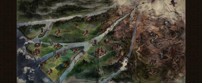 Oriental Game Map by firedudewraith