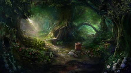 Otherworld - magic forest by firedudewraith