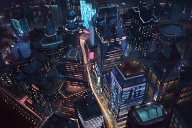 Night City by firedudewraith