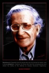 Noam Chomsky - Resistance by shamantrixx