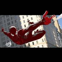 Miles Morale's Ultimate Spiderman by madstanlee