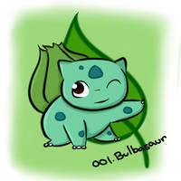 001. Bulbasaur by Kina-Maaka