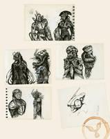 Mecha Subway Sketches 2 by dasAdam