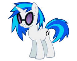 Vinyl Scratch Vector by ikillyou121