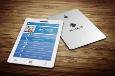 Smart Phone Business Card  Template by kazierfan