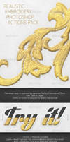 Realistic Embroidery - Photoshop Actions by NuwanP