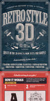 Retro Style 3D Tools - Photoshop Actions by NuwanP