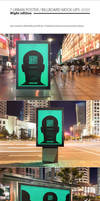 Urban Poster / Billboard Mock-ups - Night Edition by NuwanP