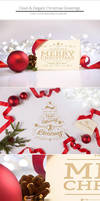 Clean and Elegant Christmas Greetings by NuwanP