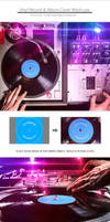 Vinyl Record and Album Cover Mockups by NuwanP