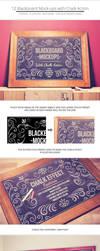 Blackboard / Chalkboard Mock-ups with Chalk Action by NuwanP