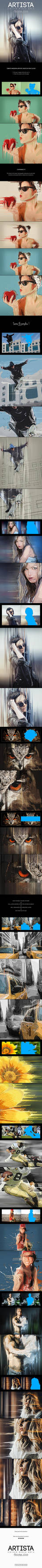 Artista - Mixed Media Art Photoshop Action by NuwanP
