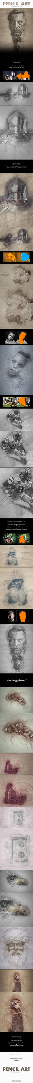 Pencil Art - Photoshop Action by NuwanP