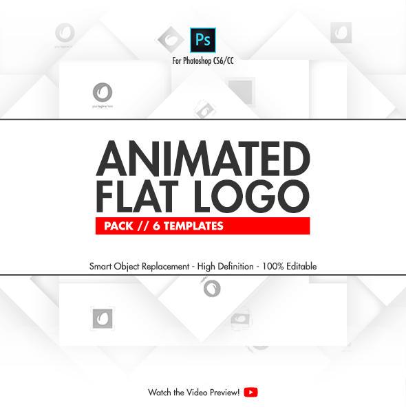 Animated Flat Logo Pack - Photoshop Templates by NuwanP