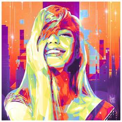 Modern Artist - SMILES! series #2 by NuwanP