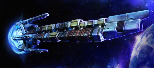 Mass Effect 2 Migrant Fleet by Nith47