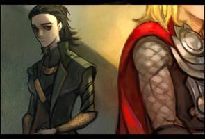 Loki (+thor) by mong1379