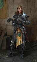 Knight Woman by AnarchicFox