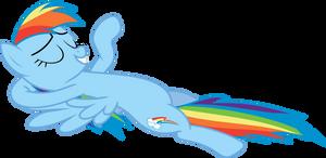Chillin Rainbow Dash (no drink) by uxyd