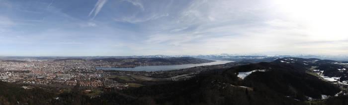 Zurich Panorama by dmakreshanski
