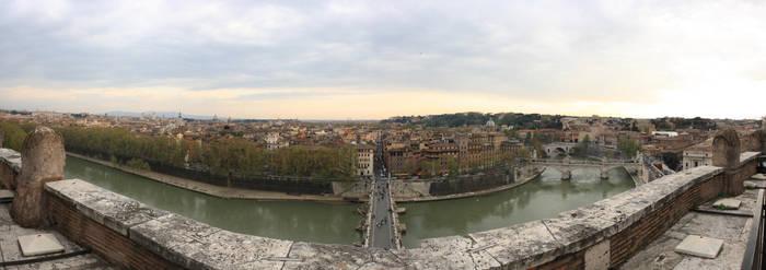 Castel Sant'Angelo Panorama by dmakreshanski