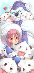 Bookmark layout: snow annie by Azu-Chan