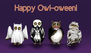 Happy Owl-oween by LeeAnneKortus