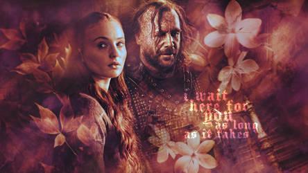 Sansa and Sandor by AlinaCarrie