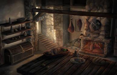 Medieval kitchen by lukkar