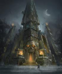 Skull Temple by lukkar
