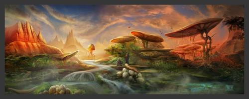 Morrowind Landschaft by lukkar