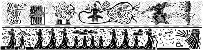 Velothi mural 03 - Exodus by lukkar