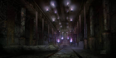 Dumac palace (Dagoth Ur) - Throne chamber corridor by lukkar