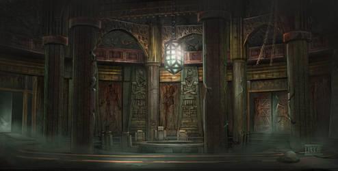 Dumac palace (Dagoth Ur) - Council chamber by lukkar